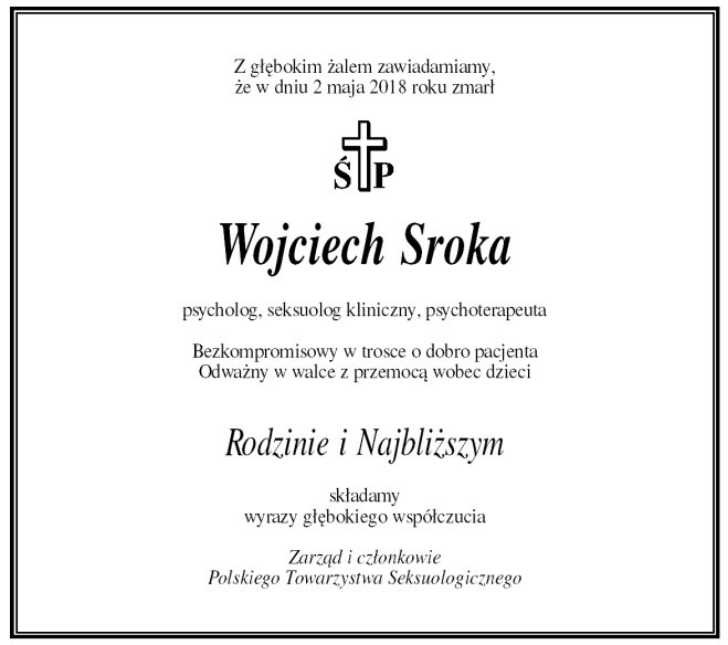 Nekrolog Wojciech Sroka